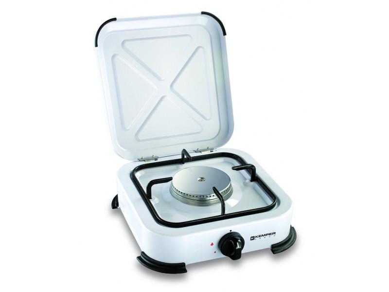 plaque de cuisson gaz portable 1 feu 1200 w blanc laqu vente de kemper conforama. Black Bedroom Furniture Sets. Home Design Ideas