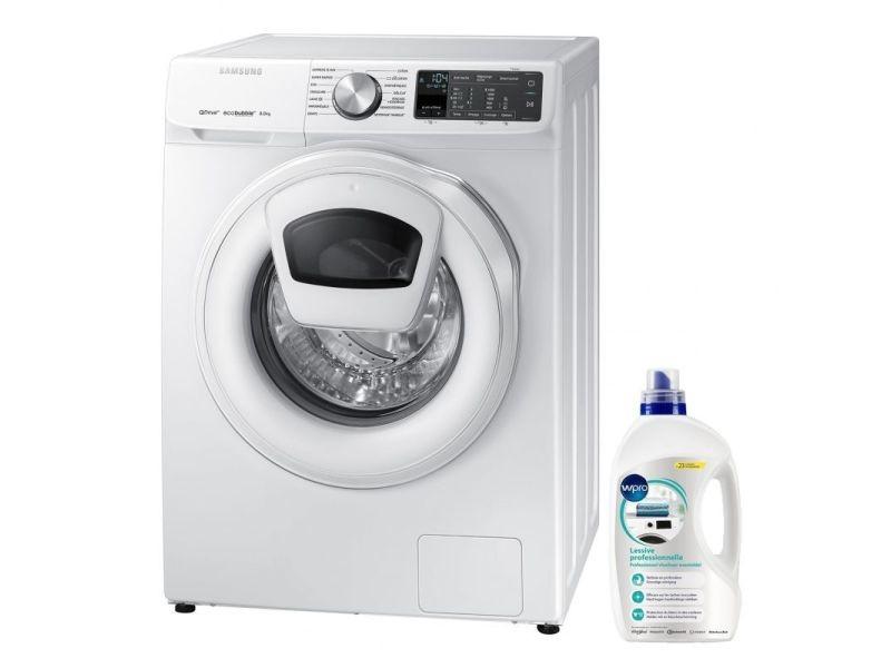 Lave-linge frontal 8kg a+++ 1400trs/min addwash ecobubble machine à laver hublot