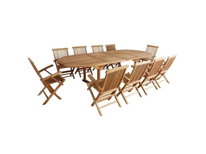 Salon de jardin en bois de teck 10 à 12 places - Vente de Salon de ...