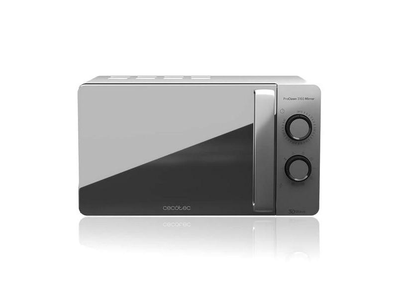 Micro-ondes avec grill à plateau tournant 20 l 700w argenté - dimensions 44,5 x 35,5 x 25,5 cm