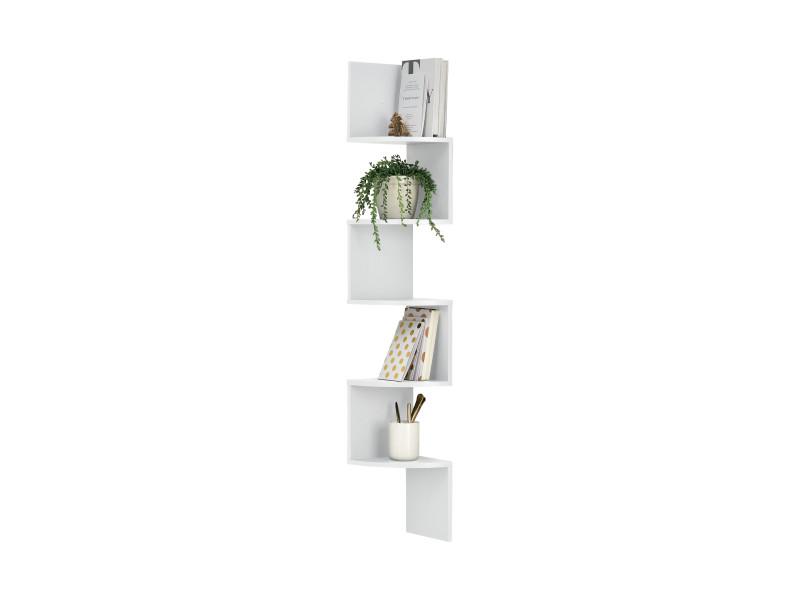 [en.casa] étagère murale blanc mat design rétro model 13