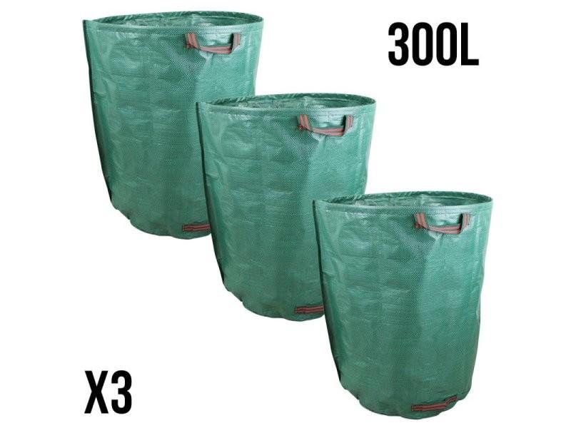Lot de 3 sacs de déchets 300l en pp 150g/m² autoportants