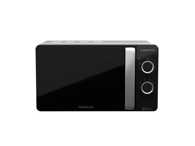 Micro-ondes avec grill à plateau tournant 20 l 700w noir argenté - dimensions 44,5 x 35,5 x 25,5 cm