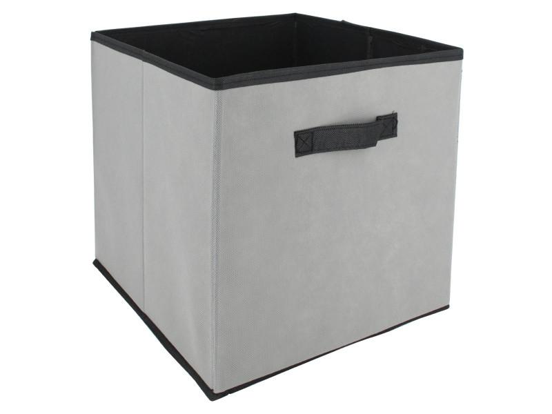 Cube de rangement cartonnée 27l gris