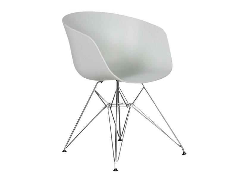 fauteuil design scandinave pied mtal eiffel couleur blanc vente de chaise conforama - Chaise Scandinave Pied Metal