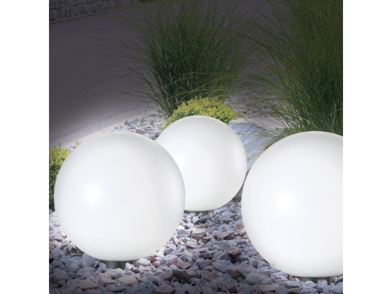 lampe boule 30 cm led solaire x2 vente de id market conforama. Black Bedroom Furniture Sets. Home Design Ideas