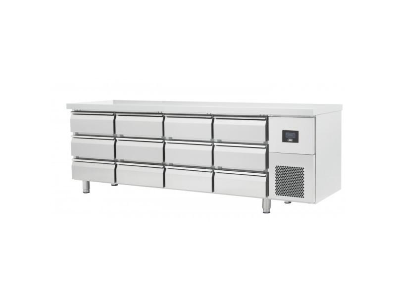 Table réfrigérée négative gamme gn 1/1 - 6 à 12 tiroirs - afi collin lucy - r290 625 litres