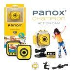 Caméra panox champion - action caméra jaune easypix