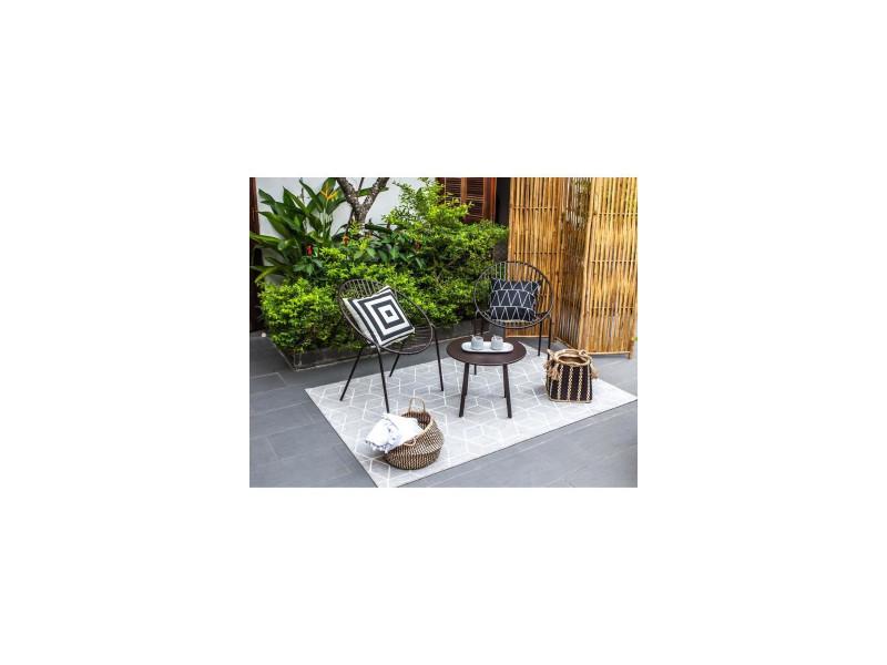 Oria salon de jardin 2 places - 2 fauteuils et une table ...