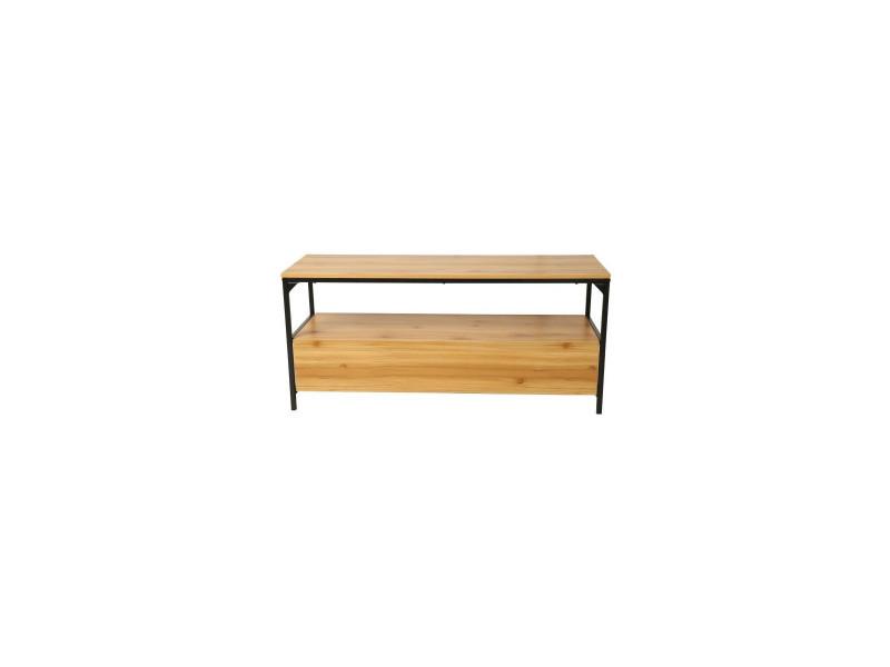 Finlandek meuble tv teollinen industriel décor bois - l 120 cm