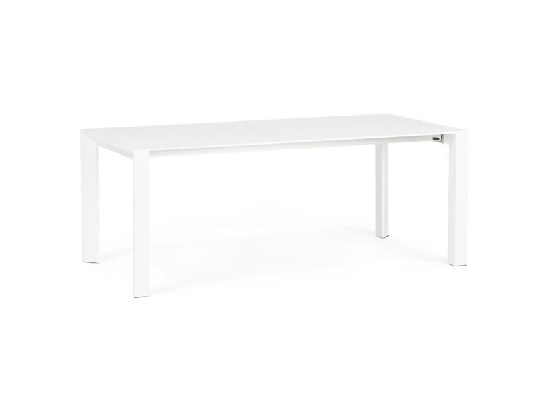 Table extensible coloris blanc - 95 x 75 x 190/270 cm -pegane-