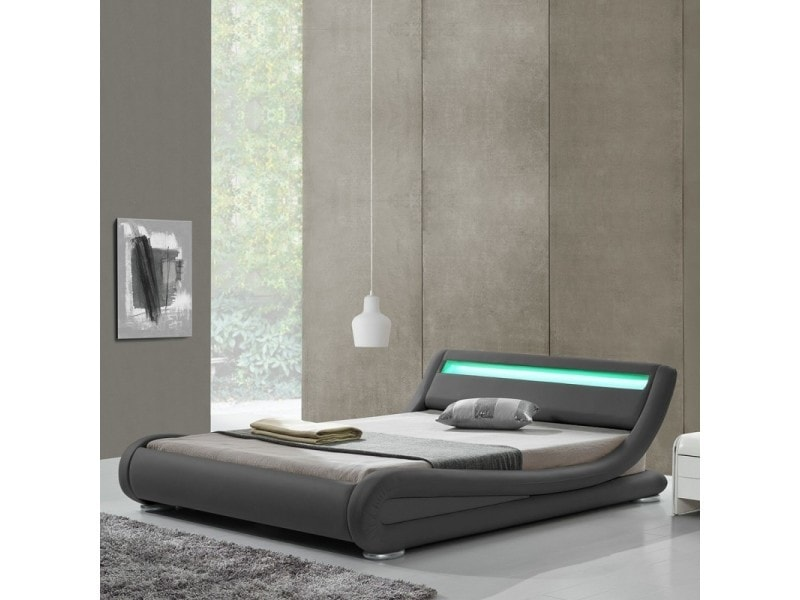 Lit design led julia - gris - 160x200