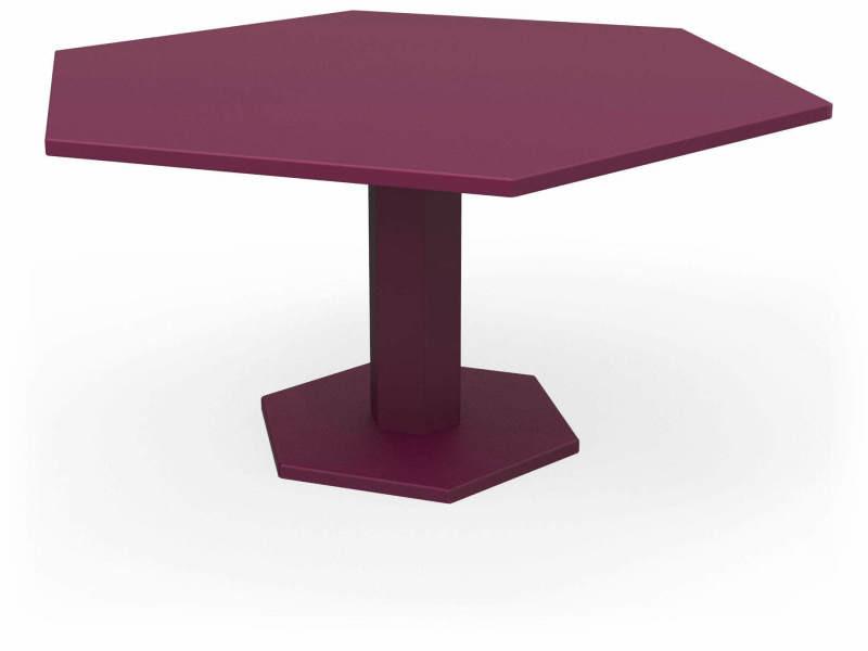 Tables hexagone violet prune Ta_HEX_hex160_h75_Pru