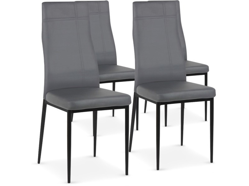 cross 4 gris Vente Conforama de Lot de chaises Chaise 76gbfy