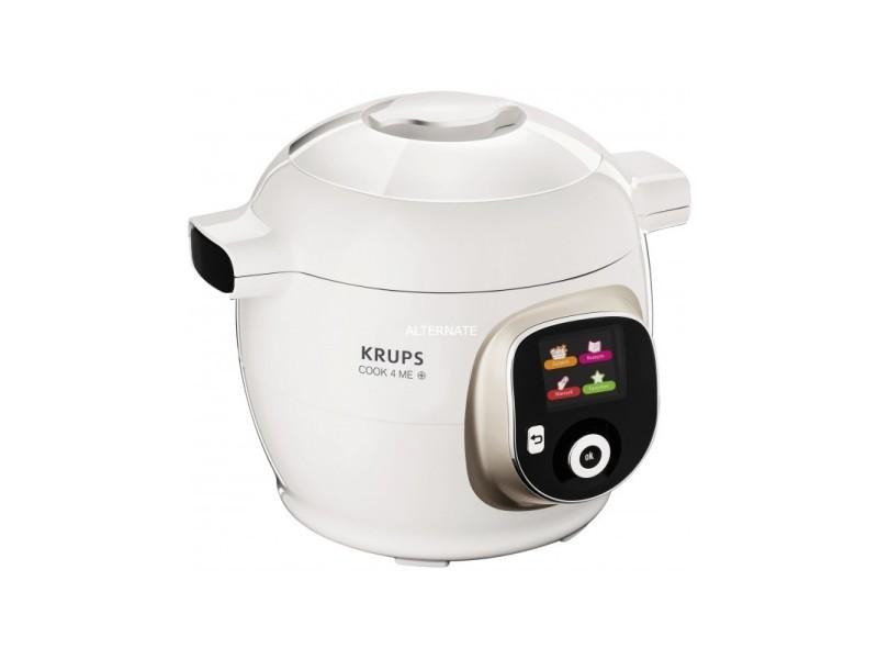 Multicuiseur cook4me plus krups cz7101 - 4l , 1200 w, blanc/gris cz7101