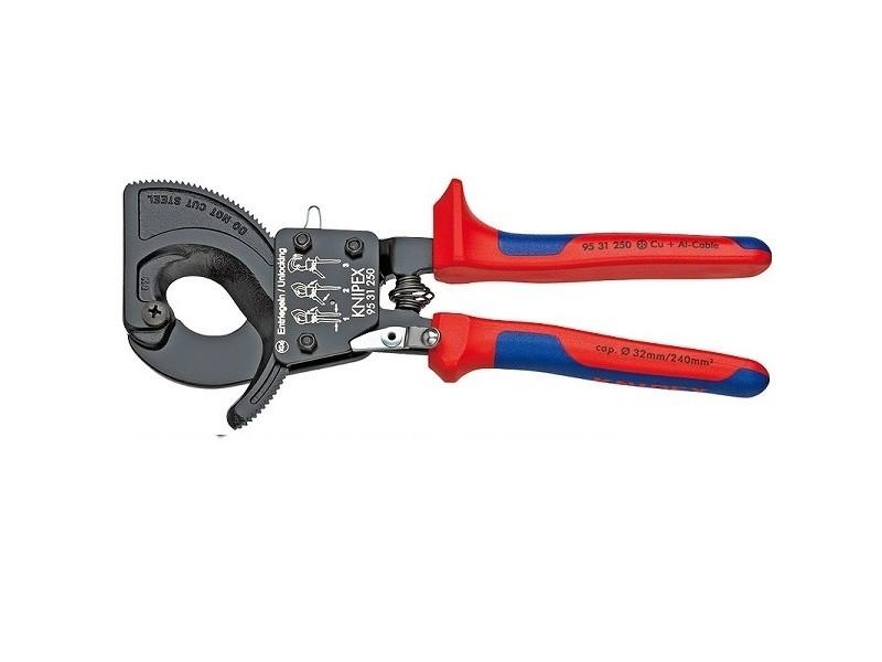 Knipex - coupe câble à cliquet ø câble 32mm - 95.31.250