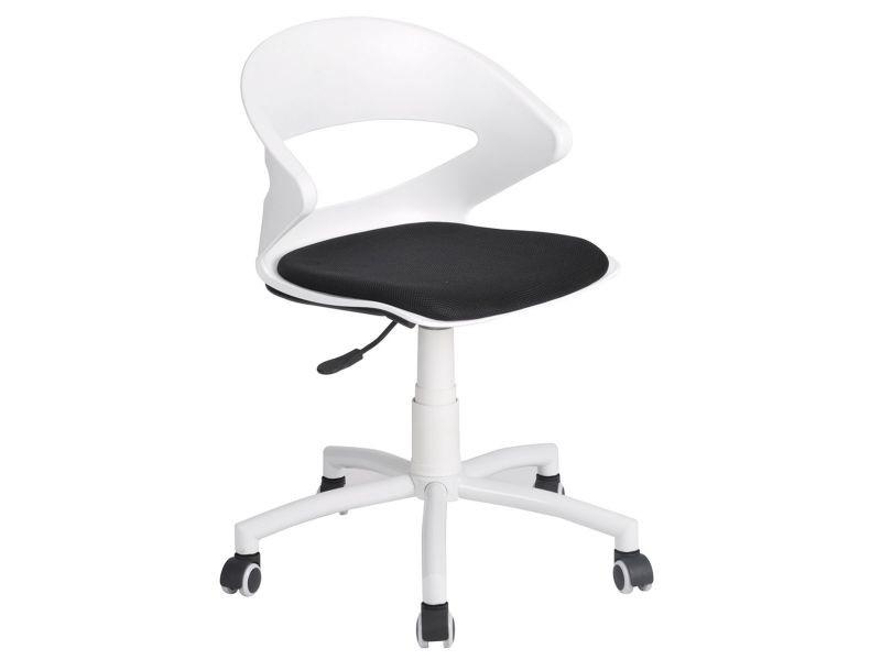 Kiko chaise de bureau blanche et noire vente de altobuy conforama