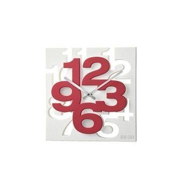 horloge design rouge moderne et 3 d conforama. Black Bedroom Furniture Sets. Home Design Ideas