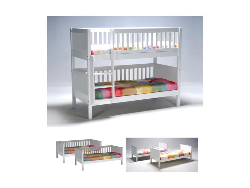 lit superpos floride 90x190 2 sommiers blanc 64419 vente de lit enfant conforama. Black Bedroom Furniture Sets. Home Design Ideas