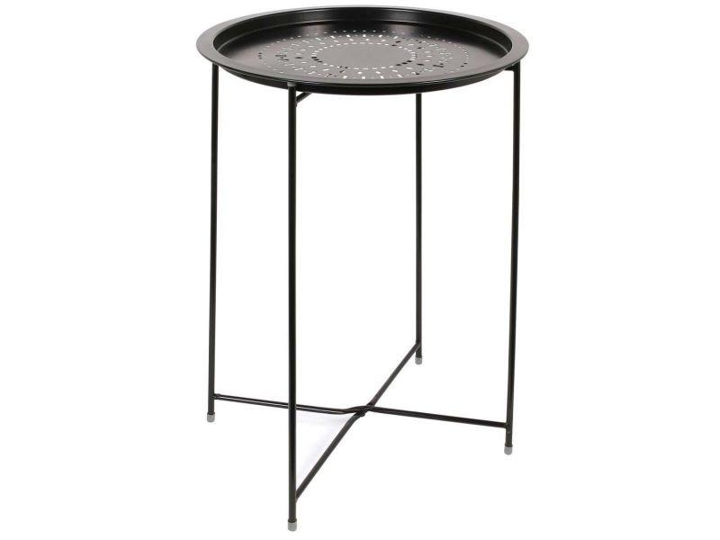 Table d'appoint en métal intérieur extérieur