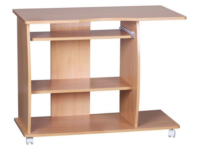 bureau d 39 ordinateur 90 cm roulettes coloris h tre collection c erminia p 19761 co vente de. Black Bedroom Furniture Sets. Home Design Ideas