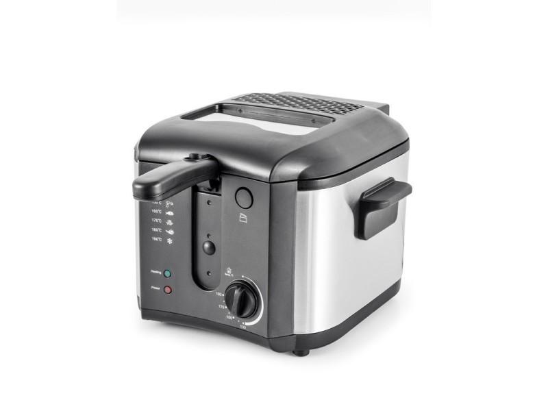 Friteuse avec thermostat réglable et filtre anti graisse fr2020 de kitchencook