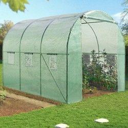 Serre de jardin tunnel 6m² en acier galvanisé