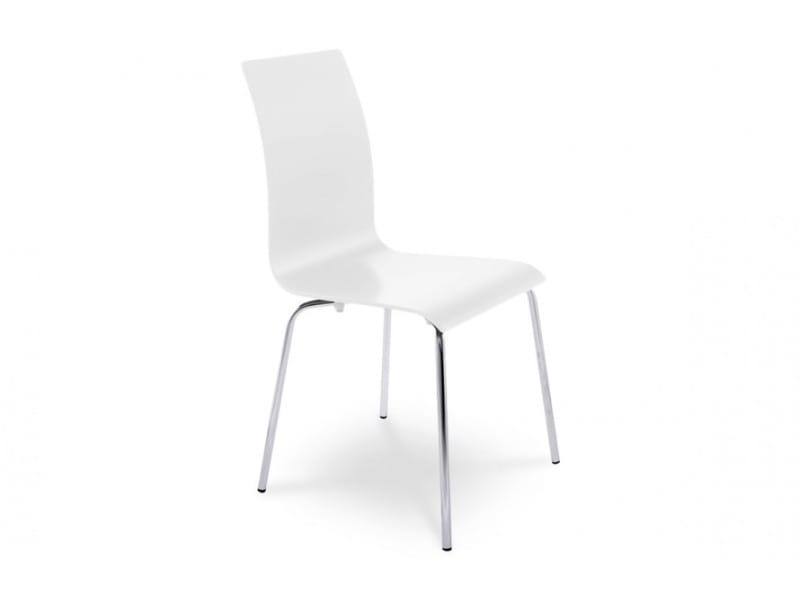 Chaise design blanche conforama for Chaise blanche