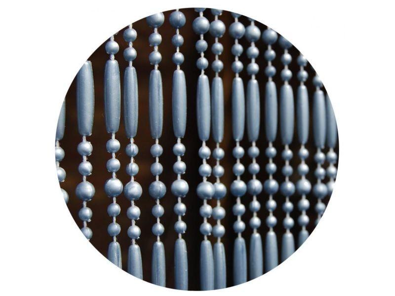 Rideau de porte en perles grises frejus 100x230 cm