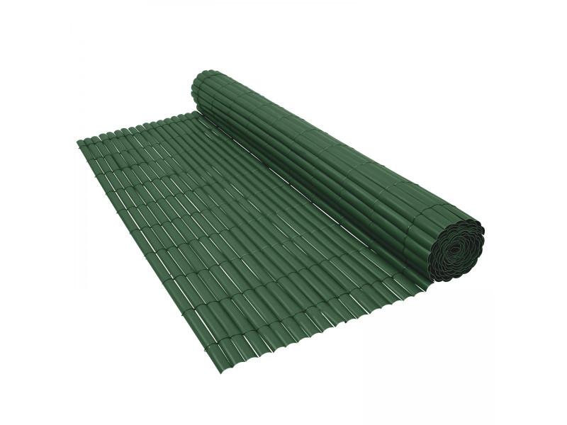 Canisse pvc vert 900 g m 1 x 3 m tres vente de brise for Panneau brise vue pvc reims