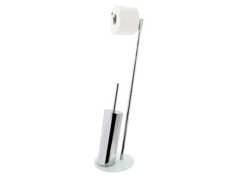 Ridder ensemble de brosse de toilette 2 en 1 brisbane blanc 425953