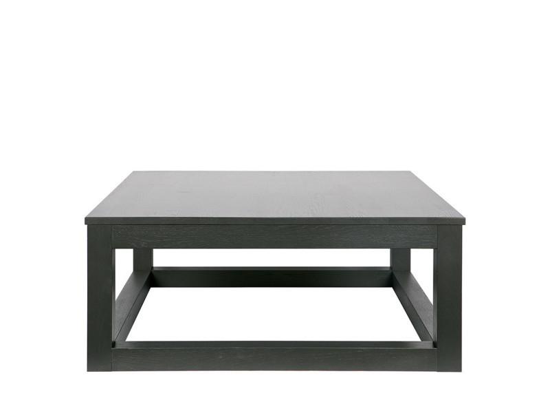 Wout - table basse chêne massif 85x85 - couleur - noir 370011-BN