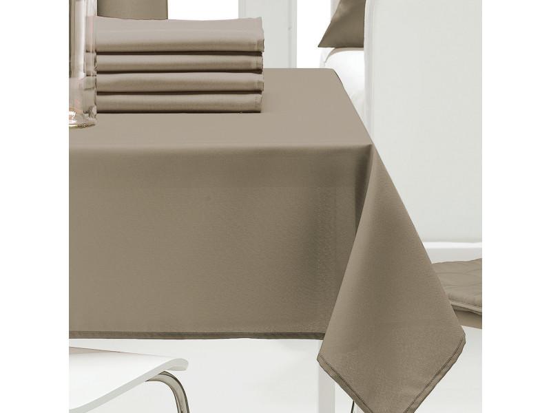 Nappe rectangulaire unie ficelle 140 x 240 cm les ateliers du linge 1474080601