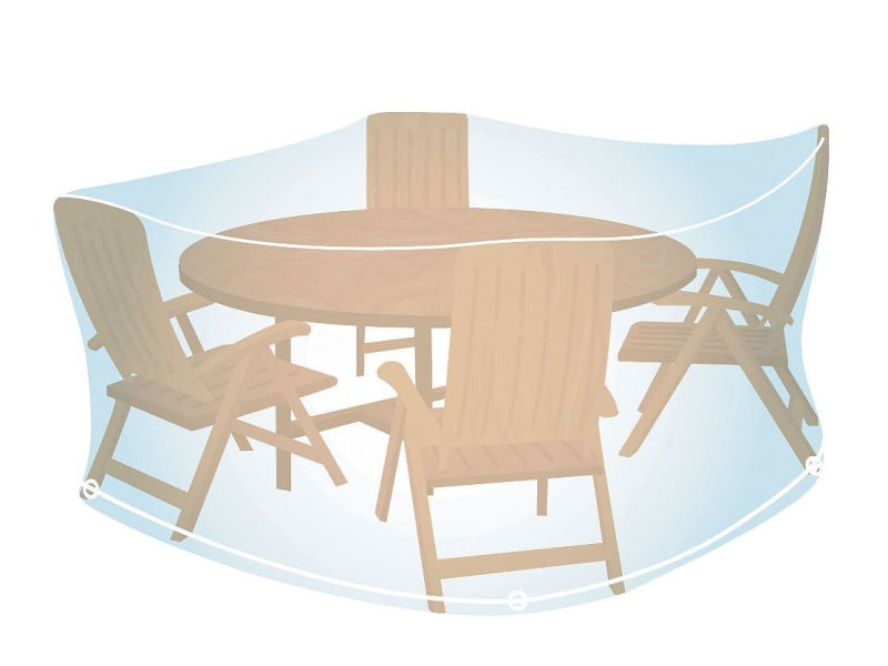 Housse de protection transparente pour salon de jardin rond ø 150 cm ...