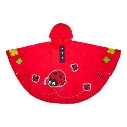 Poncho coccinelle rouge pour enfant 3 à 6 ans