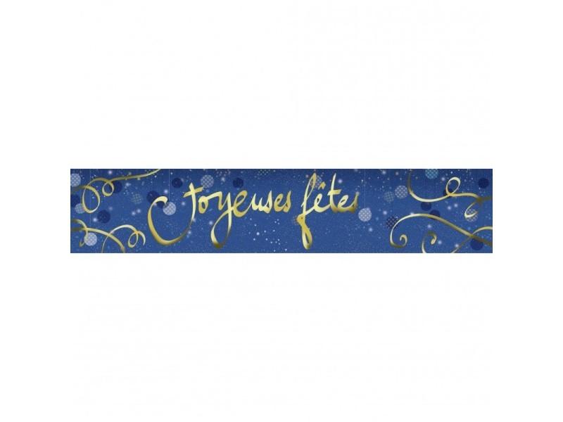 Brise vue 80% occultant bleu nuit 500 x 100 cm - décoration extérieure brise vent de jardin, balcon ou terrasse