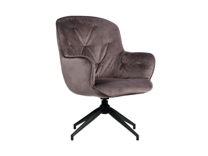 Elaine - fauteuil en velours - couleur - anthracite 373622-A
