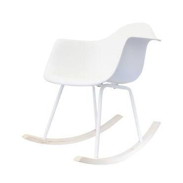 fauteuil bascule scandinave blanc vente de les douces. Black Bedroom Furniture Sets. Home Design Ideas