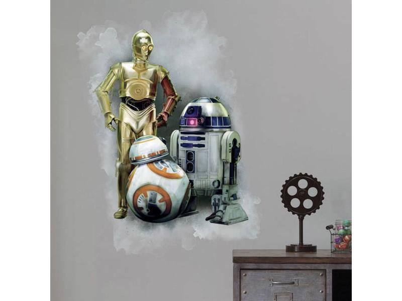 Stickers géant droïde star wars le réveil de la froce
