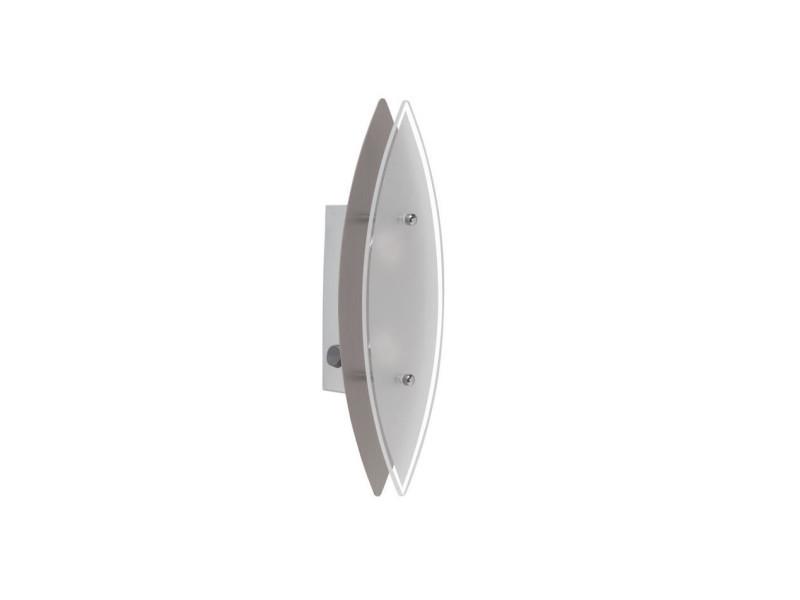 Brilliant applique murale led avec interrupteur oval blanc