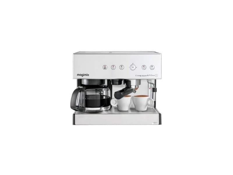 Magimix 11423 expresso et filtre automatique cafetière pour café moulu ou dosette, chrome mat, 2010w CDP-11423