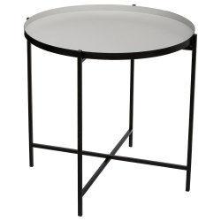 Table à café métal kylian gris