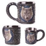 Chope avec emblème loup