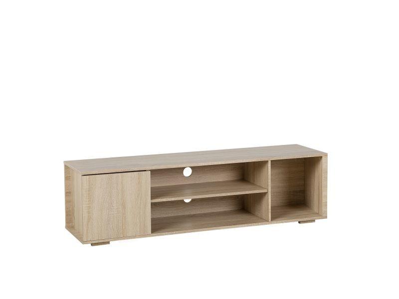 Meuble tv en bois clair rosario 138143