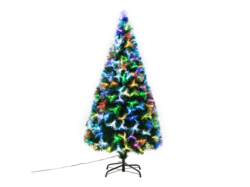 sapin de no l artificiel lumineux fibre optique led multimode multicolore support pied 74 x. Black Bedroom Furniture Sets. Home Design Ideas