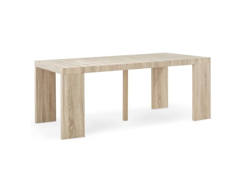 9682a57b0e3c23 Table console oxalys chêne clair - Vente de Console - Conforama