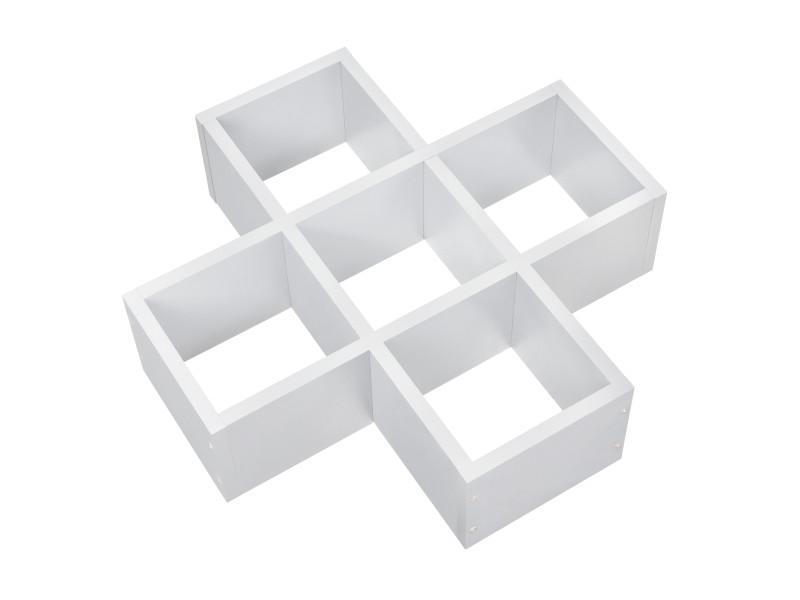 [en.casa] étagère murale blanc mat design rétro