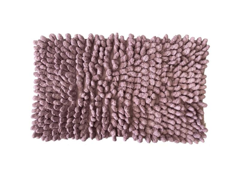 Carpette de bain en coton poudre de lilas 50 x 80 cm