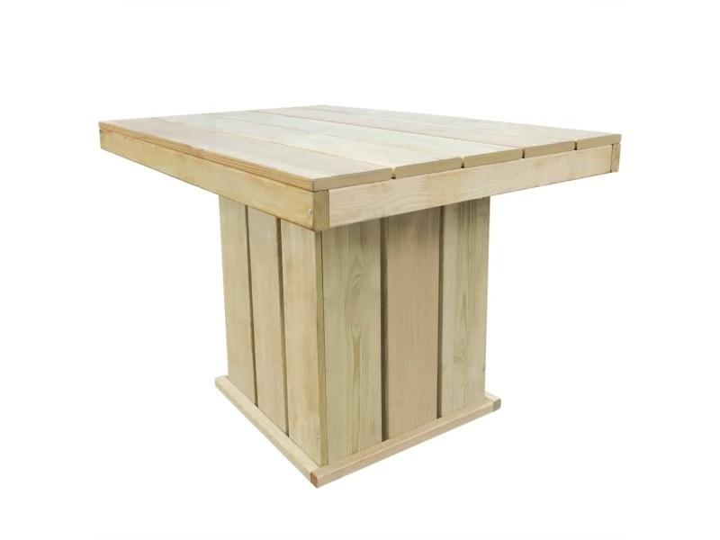Icaverne - ensembles de meubles d'extérieur gamme jeu de bar d'extérieur 110x75x74 cm bois de pin imprégné fsc