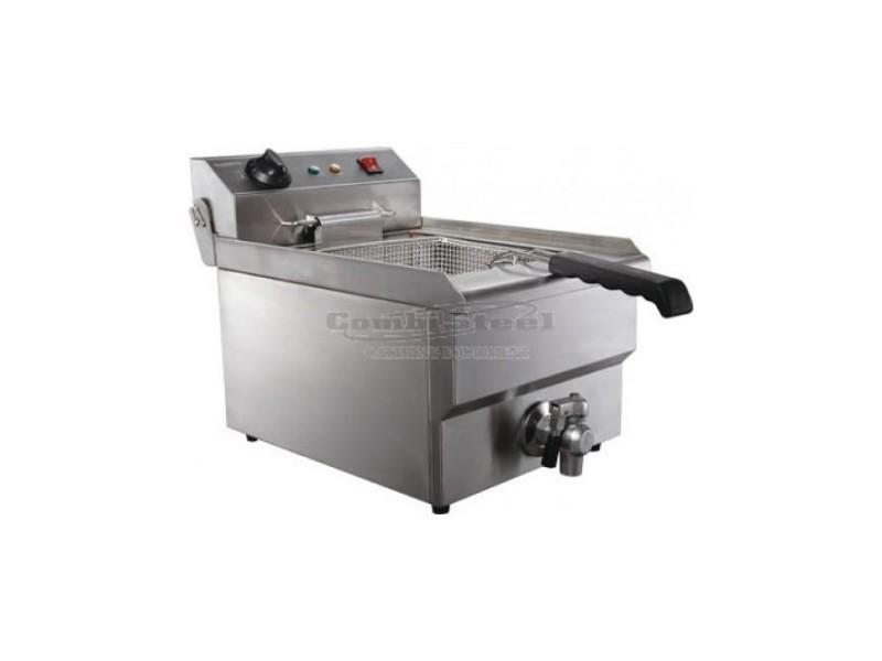 Friteuse électrique pro - 8 litres avec robinet de vidange - combisteel